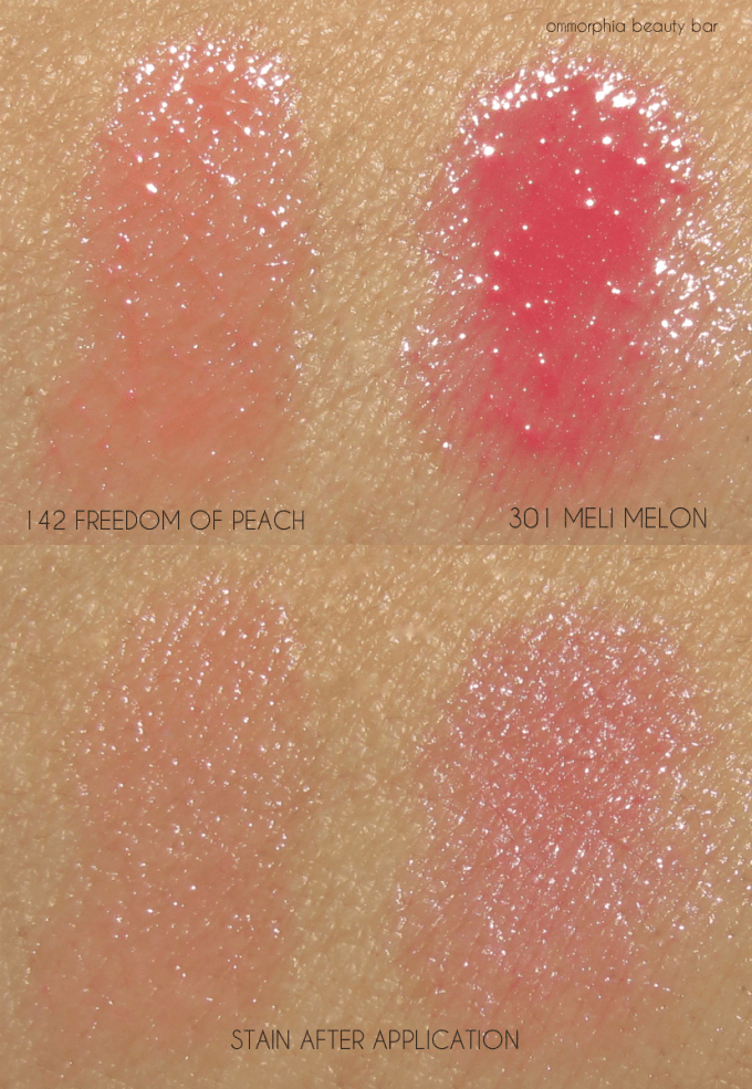 Lancome Juicy Shakers swatches 1