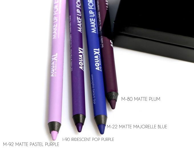 MUFE Aqua XL pencils purple group