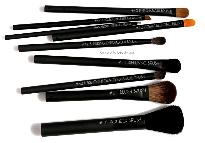 NARS makeup brushes