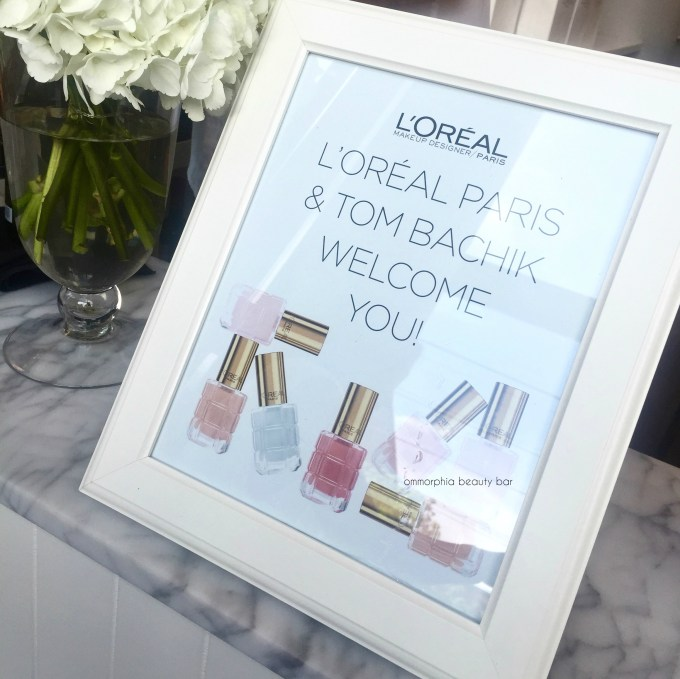 L'Oreal Vernis A L'Huile event greeting 1