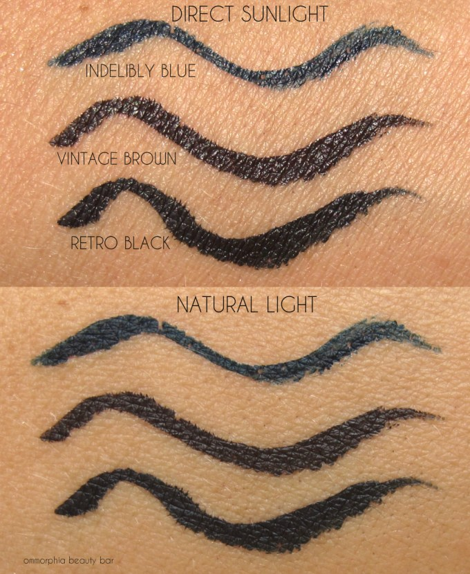 MAC It's A Strike Fluidline Pen swatches