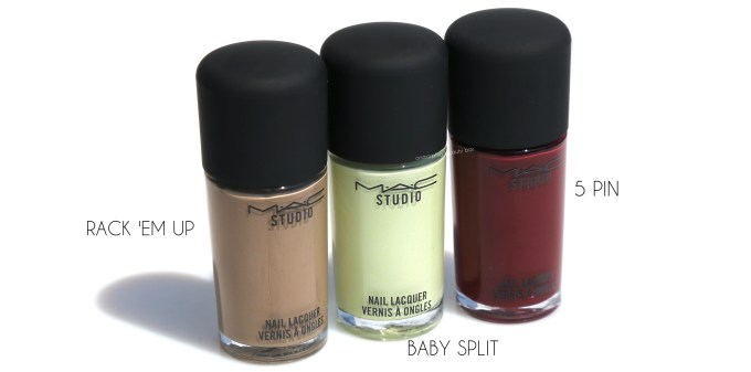 MAC It's A Strike Nail Lacquer trio 2