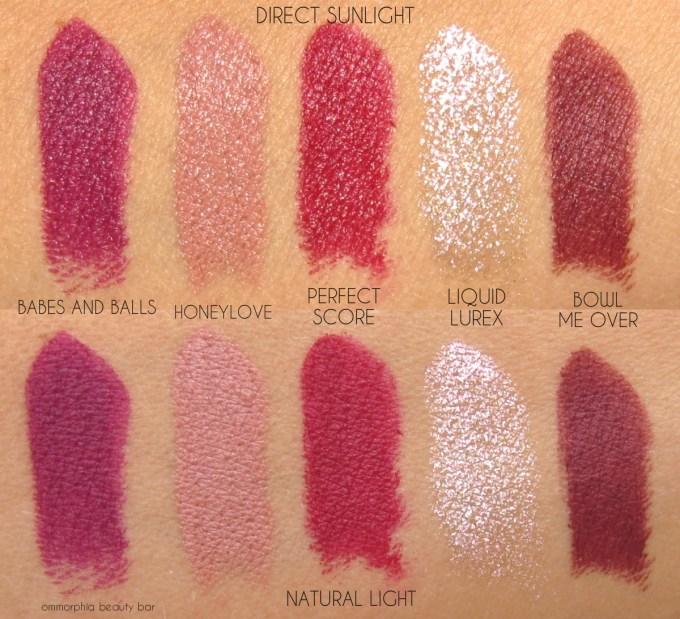 MAC It's A Strike lipstick swatches 1