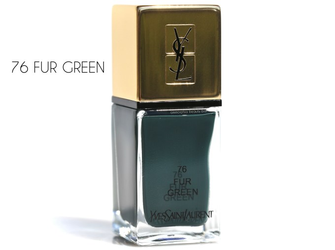 YSL Fur Green Scandal Collection