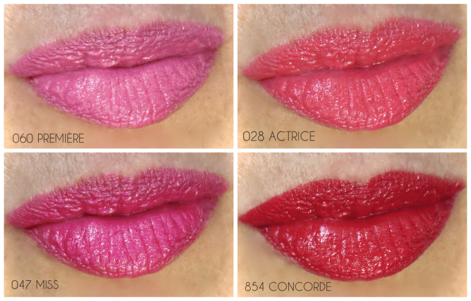 Dior Rouge Dior swatches
