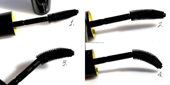 MAC Instacurl Lash mascara brush positions