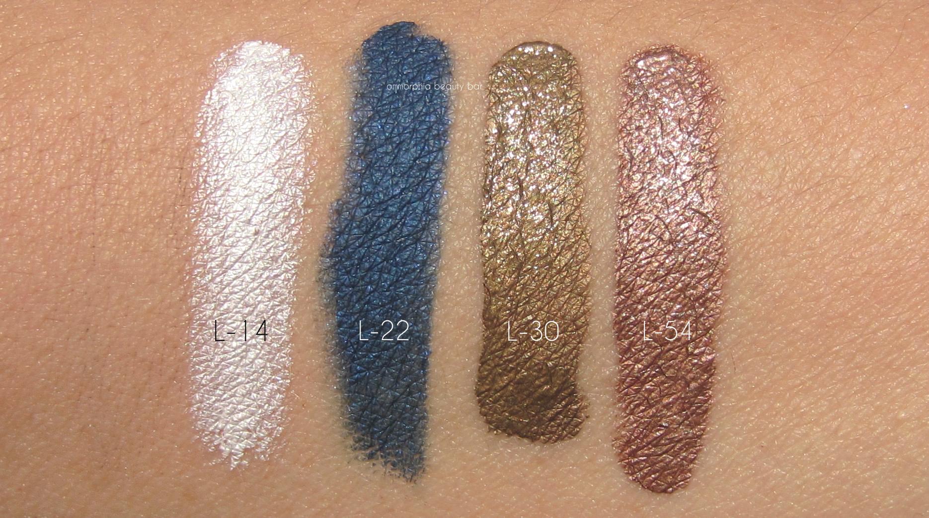 Makeup Forever Aqua Xl Color Paint Shadow Swatches