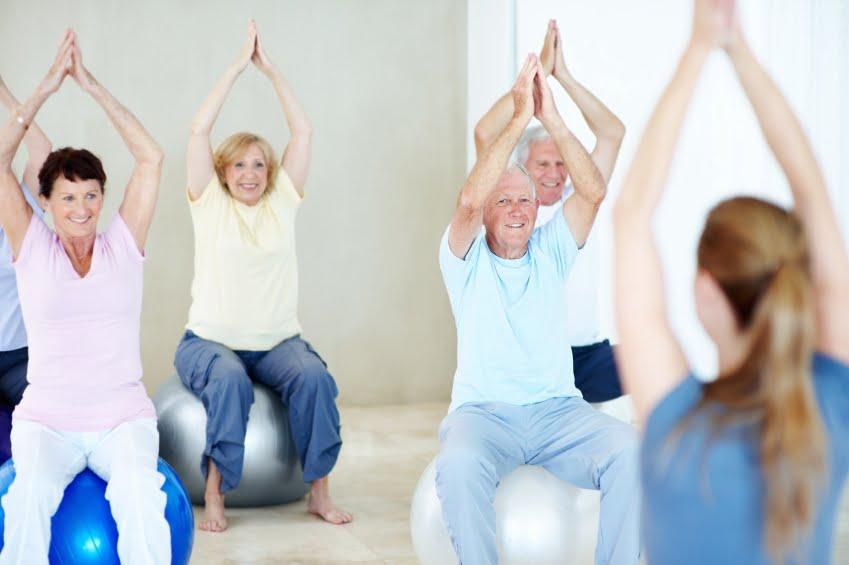 Senior Balance Training While Seated