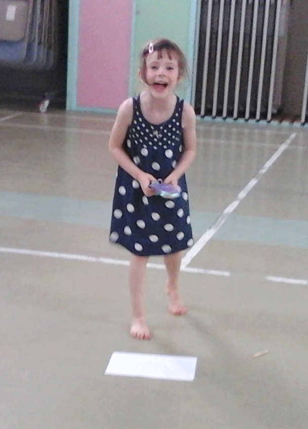 Phoebe laughing while at OmniArts Juniors - Youth Theatre