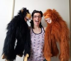 Monkey and Orangutan Hand Puppets