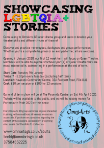 Adult Drama Group Flyer