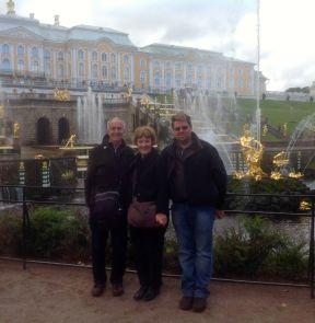 Tom, Heather & Simon at Peterhof