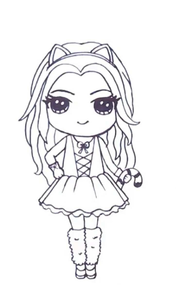 Schattige Tekeningen Cute Kawaii Poppetjes Tekenen Coloring And Drawing
