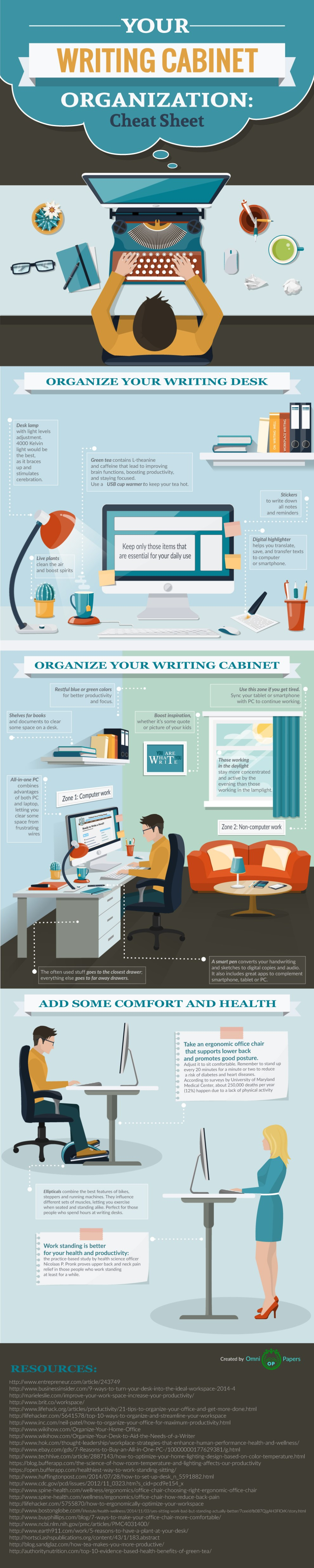 Organize your workspace to boost productivity.