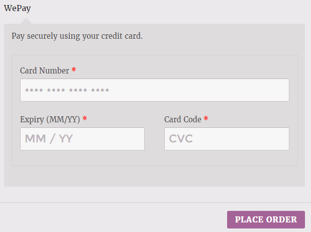 WePay Direct Checkout for WooCommerce