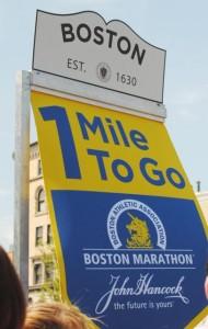 boston marathon,1 mile
