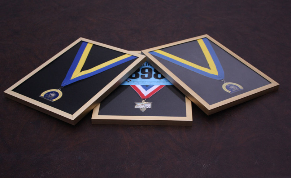 made to order frame, medal frames, custom cuts