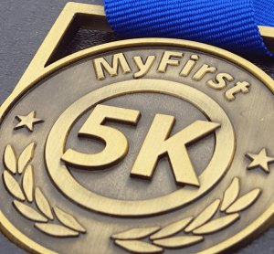 #first5k medal, running medal, finisher's medal