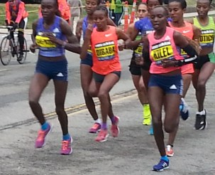 ladies elite, boston marathon runners