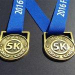 running medals,5k medals,my first 5k medal