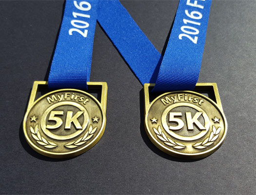 First 5K,run medals
