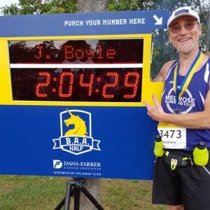 Andy Nagelin, BAA Half Marathon 2017
