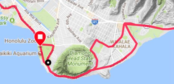 Diamond Head, Honolulu Marathon