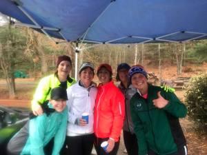 Sunday Long Run water stop, Jackie Ecker