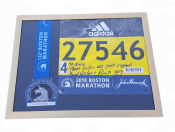 2018 Boston Marathon Finishers medal display frame