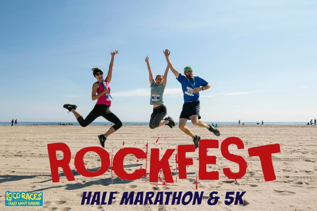 Smuttynose Rockfest Half Marathon 2018 and 5K, Hampton Beach, NH, Loco Races