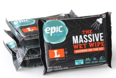 Epic Wipes, shower on the go