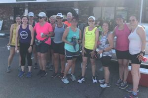Sunday Long Run Crew at water stop