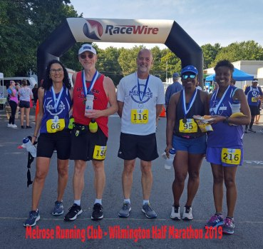 15th Annual Wilmington Half Marathon, Melrose Running Club runners
