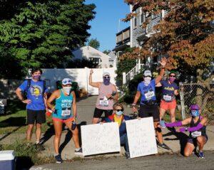 Boston Marathon 2020, Water Stop One