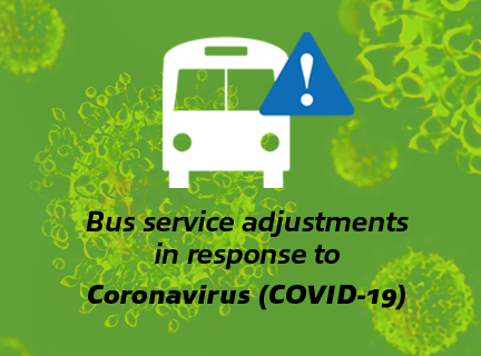 Bus service adjustments in response to coronavirus image