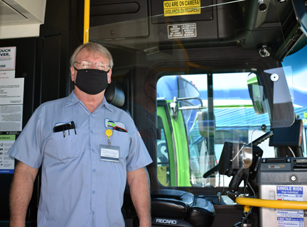 Bus driver barrier