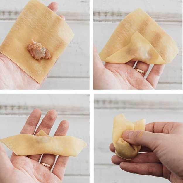 How to wrap wonton