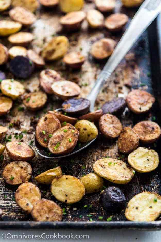 Level up your roasted potatoes with five spice powder and extra garlic!