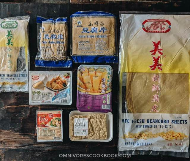 Various Asian Tofu And Soybean Products