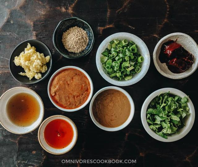 Ingredients For Assembling Your Own Chinese Hot Pot Dipping Sauce