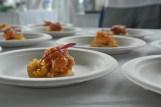 Lobster tempura tostada