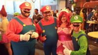 We a founda da princess! Yes, that's us and another Mario and Luigi at last year's party
