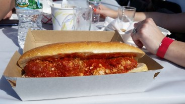 Meatball sub from The Local Meatball at Ninety9 Bottles Craft Beer Fest 2014