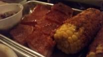 Crispy Pork Belly and Cajun Corn at Hoodoo Brown BBQ in Ridgefield, CT