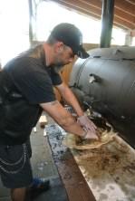 Nestor Laracuente at Hoodoo Brown BBQ in Ridgefield