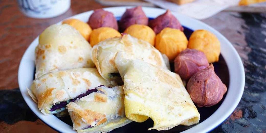 """【高雄三民早午餐】威力早午餐  We Like Brunch    紫薯蛋餅""""早餐也有QQ蛋吃!!!"""