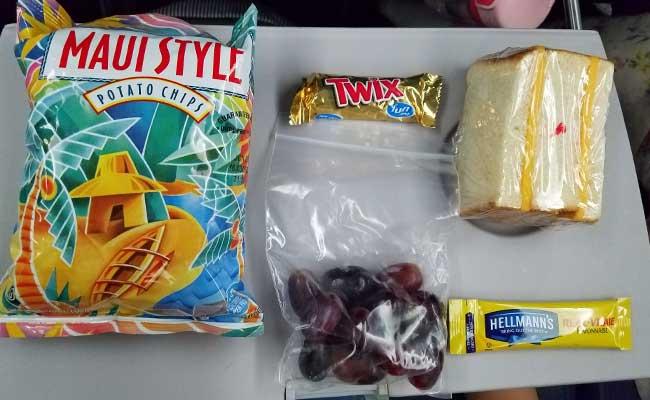 ハワイ子連れ旅行の飛行機、デルタ航空の子どもの食事(トドラーミール)の内容は? 4