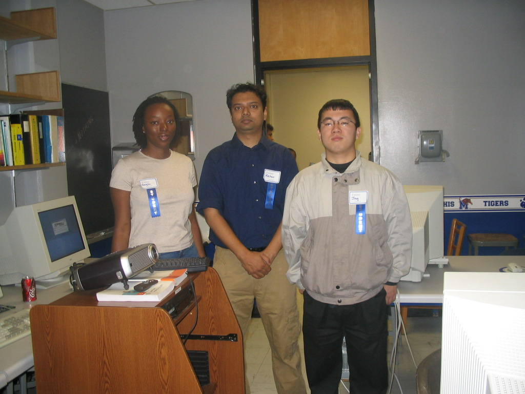 Me, my colleague Echo Azar and another colleague of ours in our lab at Memphis. Yeah we were NERDs. 2006