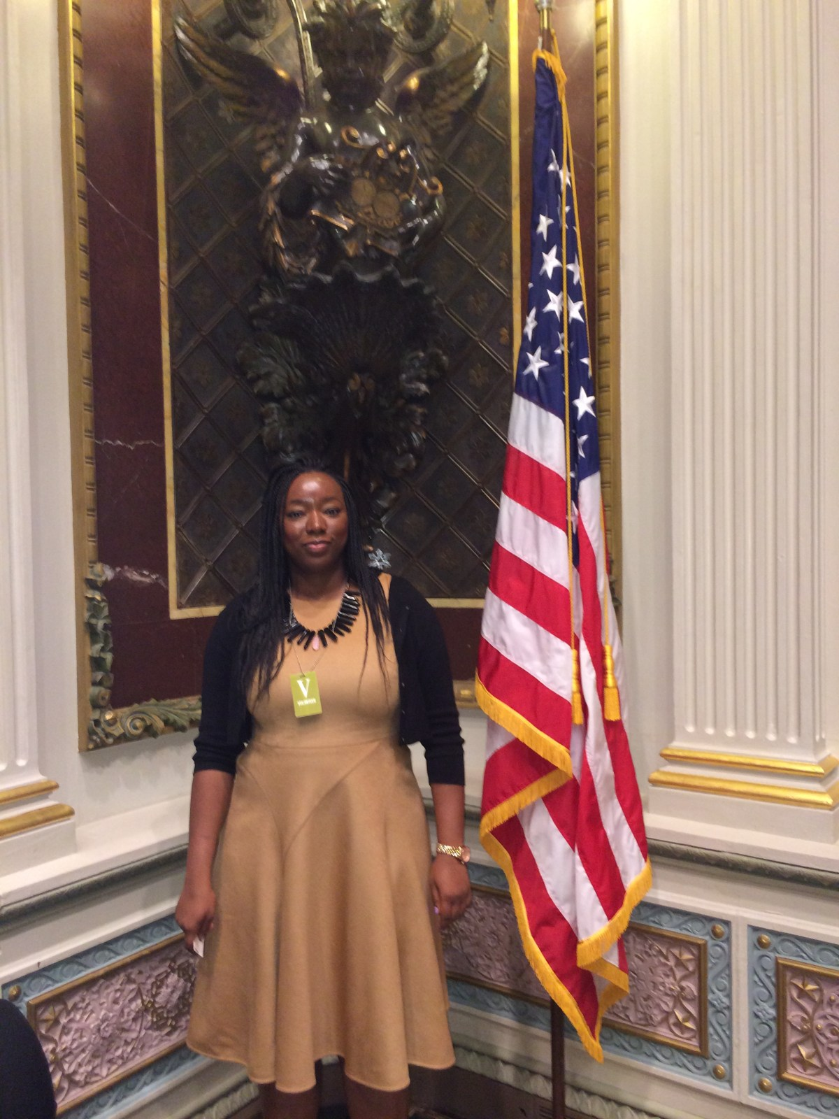 Omoju at the White House after presenting #ThisIsGrit. 2013
