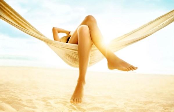 legs on hammock